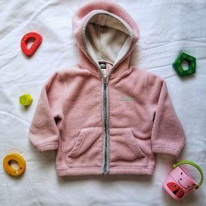 Roots Pink Fleece Zip Up Hoodie with Pockets